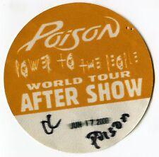 POISON 2000 Power Concert Tour Backstage Pass!!! Authentic Original FASSON #2