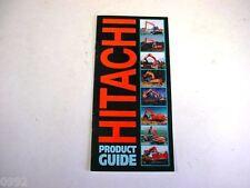1998 Hitachi Product Guide EX110 Thru EX5500 Excavators