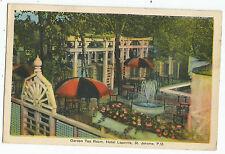 St Jerome P.Q. Hotel Lapointe Garden Tea Room Vintage Postcard