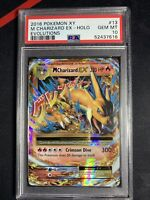 2016 POKEMON 13/108 XY M MEGA CHARIZARD EX FULL ART HOLO EVOLUTIONS  PSA 10