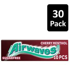 Wrigley's Airwaves Cherry Menthol Sugar-Free Chewing Gum 10 Pieces Pack Of 30
