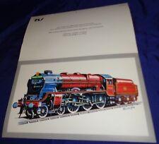 DE035 Vtg Type 4-6-0 Royal Scot Class Locomotive Greeting Card Railway Train