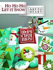 HO HO HO Let It Snow Art to Heart Book Quilt Snowman Winter Christmas Theme