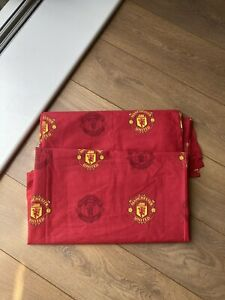 New Large Size Manchester United Repeat Crest Curtains Kids Football Bedroom
