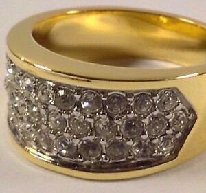 NEW Beautifully Designed, HIS/HERs Gold Ring,Thirty Two Quality Swarovski stones