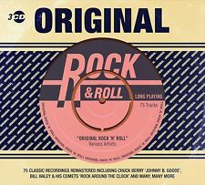 Original Rock N Roll 3 CD Box Set 75 Classic Favourites Chuck Berry Elvis + more