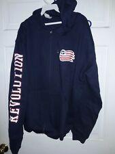 New England Revolution soccer Revs Hooded Sweatshirt jacket Soccer shirt MLS L