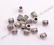 20/50/100Pcs Tibetan Silver Big Hole Spacer Beads for Bracklet 3MM Hole Z3028