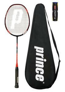 Prince Pro Warrior Nano 75 Graphite Badminton Racket + 6 Shuttles RRP £110