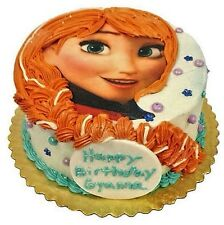 Disney Princess Frozen Anna Braid Face Edible Icing Birthday Party Cake Toppers