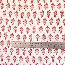 5 yard Hand Block Print 100% Cotton Fabric Indian Sanganeri Printed Fabric CJ4