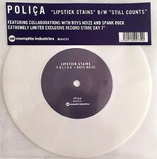 "POLICA  7"" Lipstick Stains WHITE Vinyl RECORD STORE DAY 2017 Boys Noise"