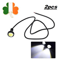 2x 23mm Parking Light Eagle Eye LED Car Lights DRL Daytime Running Light 12V 9W