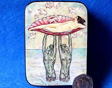 G. Barbier Aphrodite & Merman Mermen NUDES RUSSIAN SMALL LACQUER SHELL GIFT Box