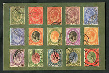 Postcard with printed image of South African King George V Stamps. Posted 1980