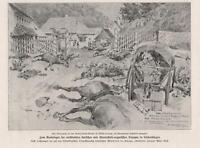 Kämpfe Böros-Storony Roten-Turm-Straße Siebenbürgen BILDDOKUMENT 1916 WW1