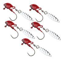 5pcs Shad Jigs Head Baits Glow   Swimbait Hooks with Sequins Spoon