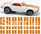 Orange Racing Stripes 1/64 water-slide decals tribute to the 95' 67 Camaro TH