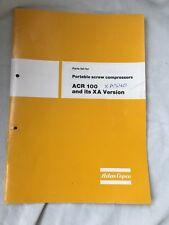 ATLAS COPCO XA(S)40DD ACR100 AIR COMPRESSOR SPARE PARTS MANUAL LIST  BOOK INCVAT