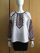 Embroidered Boho Blouse Shirt Style Vita Kin Ukrainian embroidery Vyshivanka S