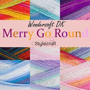 Stylecraft MERRY GO ROUND Double Knitting Premium Acrylic Crochet Yarn Wool 100g