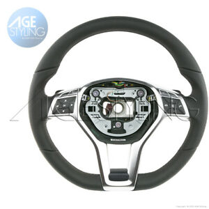 Mercedes-Benz CLS550 E250 E350 E400 E550 Flat Bottom Leather Steering Wheel
