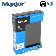1TB Maxtor M3 Portable USB 3.0 External Hard Drive Disk Memory Slim - Black