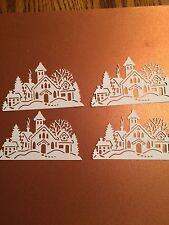 Snow Village die cut for scrapbook or card making 4 pieces