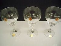 3 CRYSTAL GOBLETS CRISTALLERIE ZWIESEL FROM GERMANY 7 3/4''