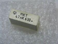 Lotto di 10 - capacitor condensatore plastica 47nF 47000pF 0.047µF 10% 630V MKT
