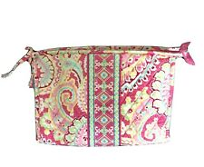 Pink Multi-Color Vera Bradley Make-Up Bag Large