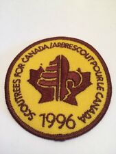 """Vtg Scoutrees For Canada 1996 Scouts Canada Sew On  Patch  3"""" Cubs Beavers"""