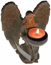 Kneeling 18 cm Holy Angel Figurine Tea light Candle Holder Ornament