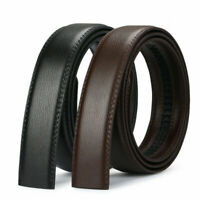 Luxury Buckle Men's Belt Brown Black Ratchet Strap Automatic Leather Jeans