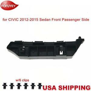 Bumper Reinforcement Plastic Bracket for CIVIC Sedan 2012-2015 FR Passenger Side