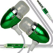 Aluminium Stereo In Ear Earbud Hands Free Earphones/Headphones+Microphone✔Green