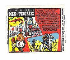 Anglo Wachs Umschlag Men of Progress #6 Kamera Cinema Pioniere Lumiere Edison