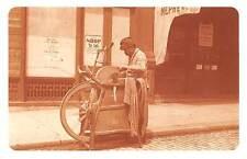 Italian Curbside Knife Grinder, bicycles, push carts Shop 1892 Nostalgia Reprint