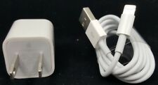 APPLE Charger & Lightning Cable 5W USB Adapter + Cable iPhone iPad iPod GENUINE™