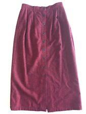 CAMBRIDGE Dry Goods 6 Red Black Wool Blend Gingham Check Maxi Long Skirt