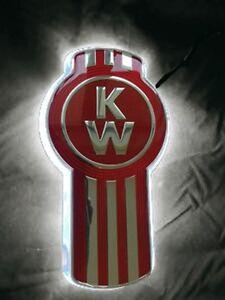 """Stealth """"Clear/White"""" Kenworth Logo backing- Emblem light"""