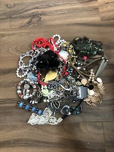 Job Lot Costume Jewellery, New/Old, Upcycle, Resell, Car Boot