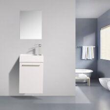 Piccolo 400 Lily White Timber Wood Grain Wall Hung Bathroom Vanity - indulge®