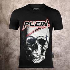 Philipp Plein Maglietta t-shirt Philip polo Strass tshirt teschio t shirt nera