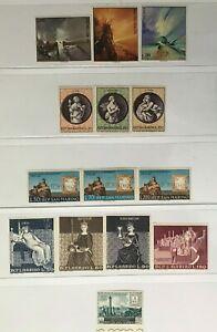 SAN MARINO Sc#s 710-12, 713-15. 487-89, 695-698, C109 Mint NH OG VF 5 sets 8-155