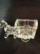 Vintage Wmf Die Glas-Idee Glass Donkey Buggy Cart Candy Toothpick Container