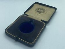 Scarce Antique Tooled Leather NAAFI Military Fob Watch Jewellery Box