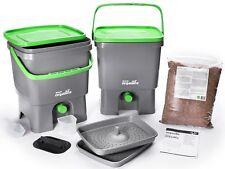 Duo Set Bokashi Organico con terriccio naturale - Biogen  per rifiuti organici