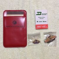 Railroadiana Burlington Northern First Aid Kit + Northern Pacific 1970 Calendar