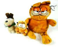 Vintage Garfield and Odie Plush Dolls figures 1980's lot of 3